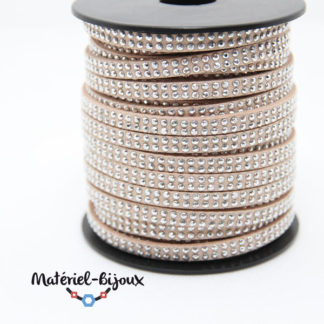 cordon clouté beige 5mm