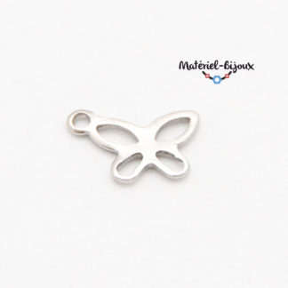 breloque papillon inoxydable