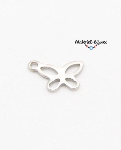 breloque papillon inoxydable