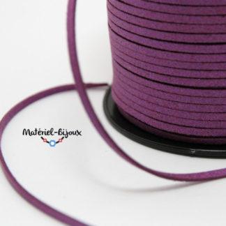 cordon suédine violet brillant
